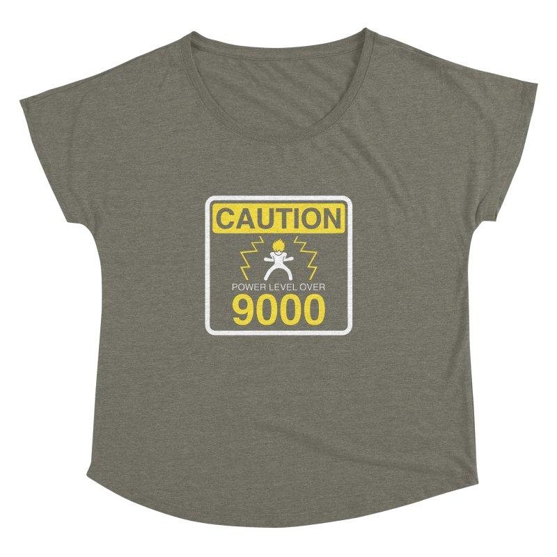 CAUTION: Power Level Over 9000 Women's Dolman by Wood-Man's Artist Shop