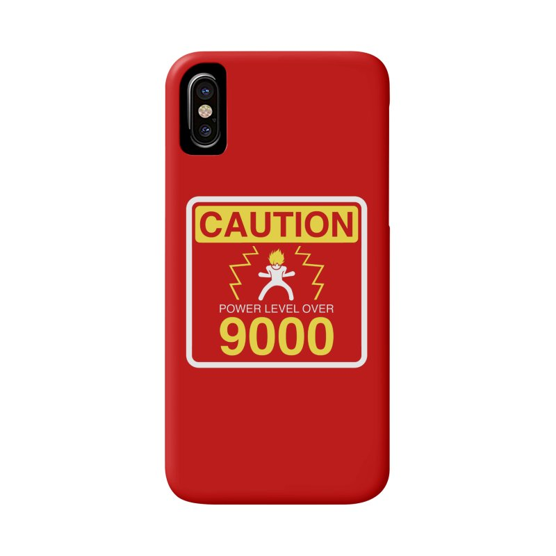 CAUTION: Power Level Over 9000 Accessories Phone Case by Wood-Man's Artist Shop