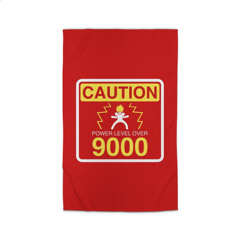CAUTION: Power Level Over 9000 Home Rug by Wood-Man's Artist Shop