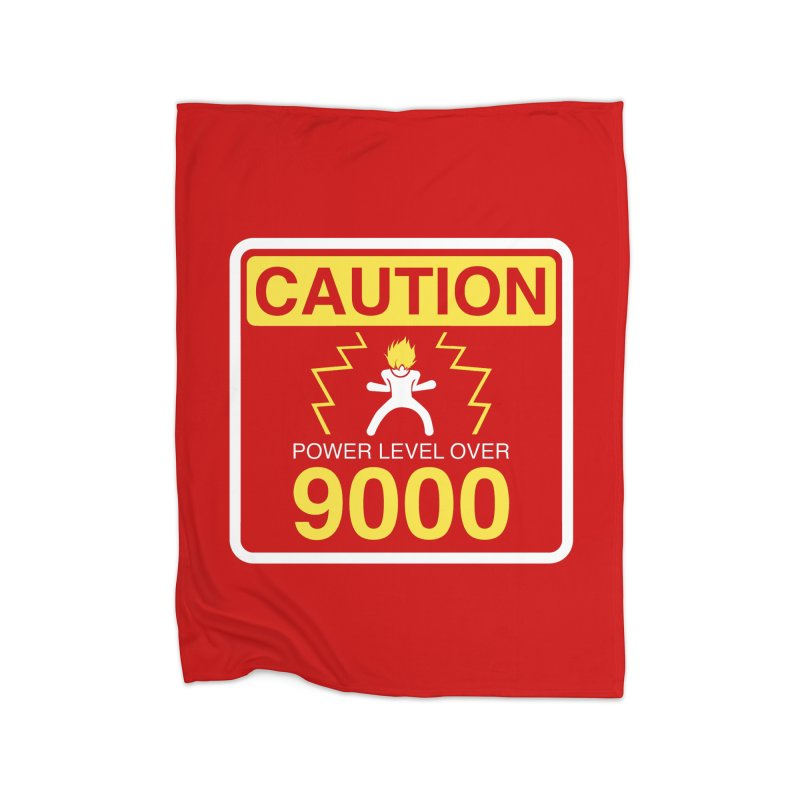 CAUTION: Power Level Over 9000 Home Blanket by Wood-Man's Artist Shop