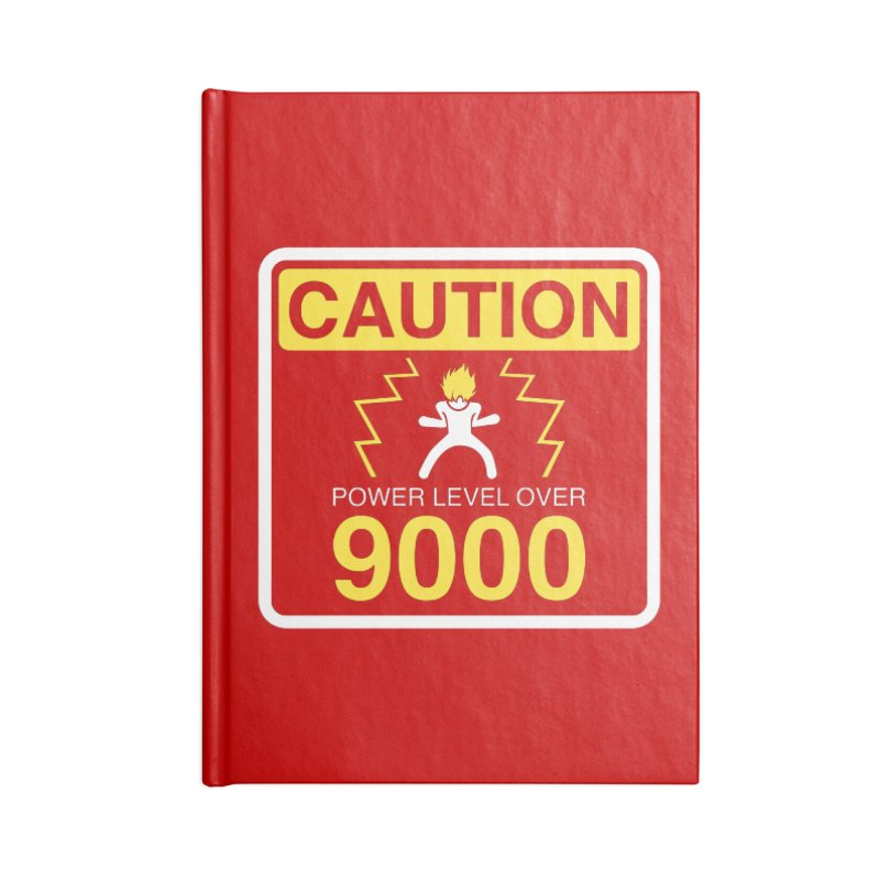 CAUTION: Power Level Over 9000 Accessories Notebook by Wood-Man's Artist Shop