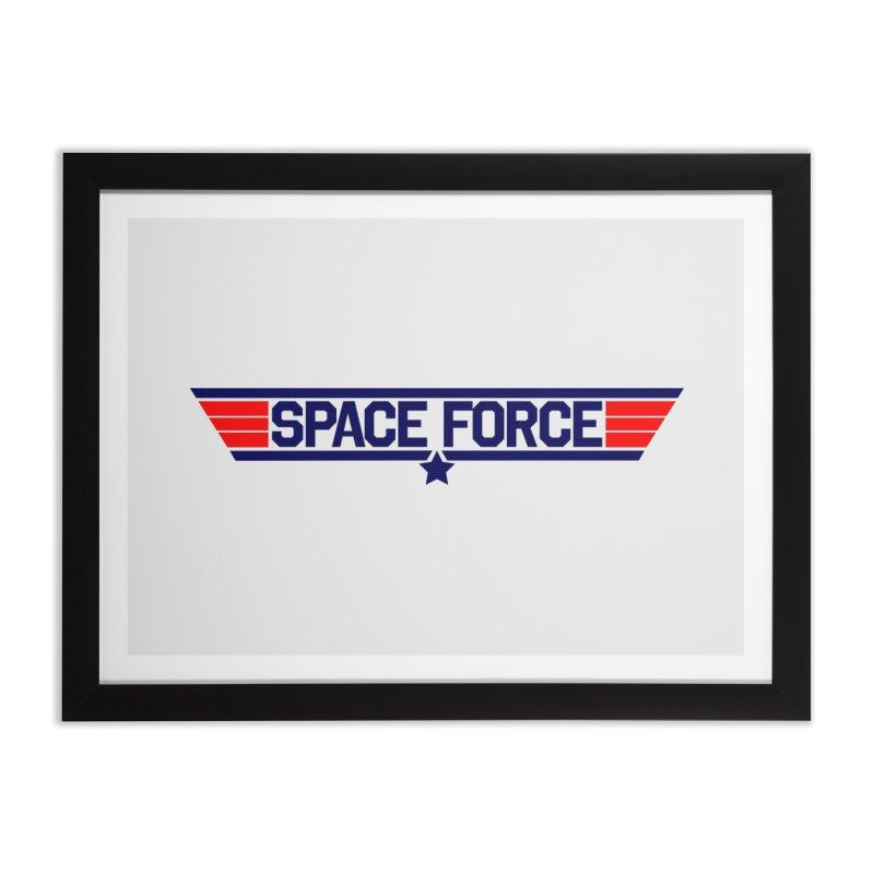 Space Force Home Framed Fine Art Print by Wood-Man's Artist Shop