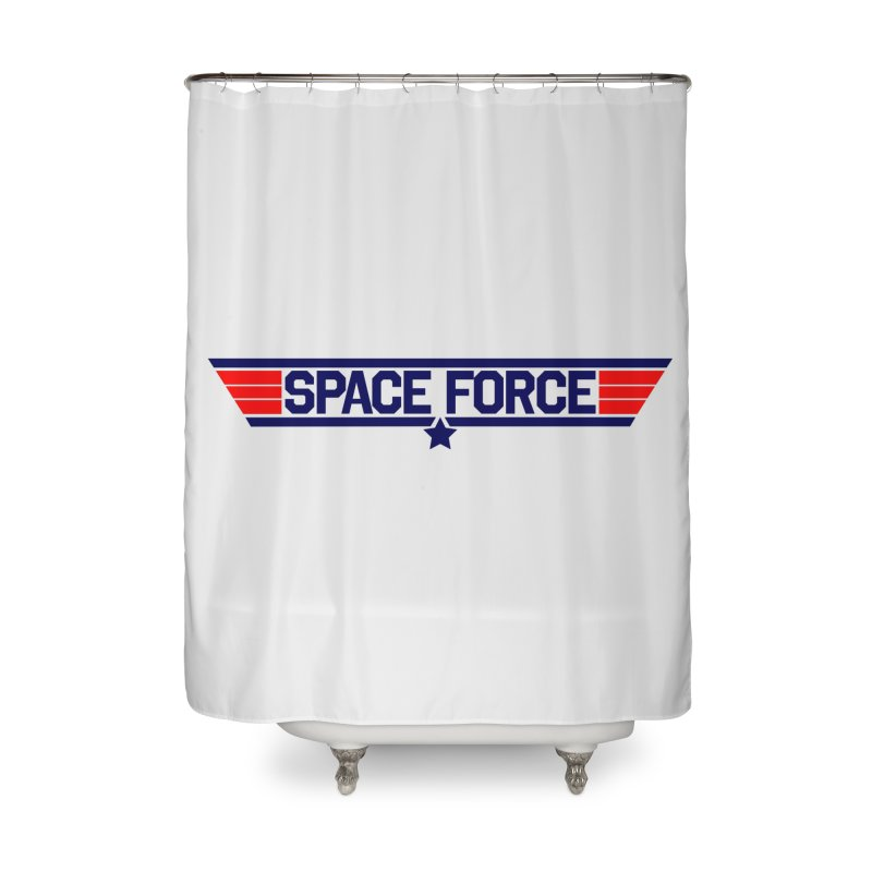 Space Force Home Shower Curtain by Wood-Man's Artist Shop