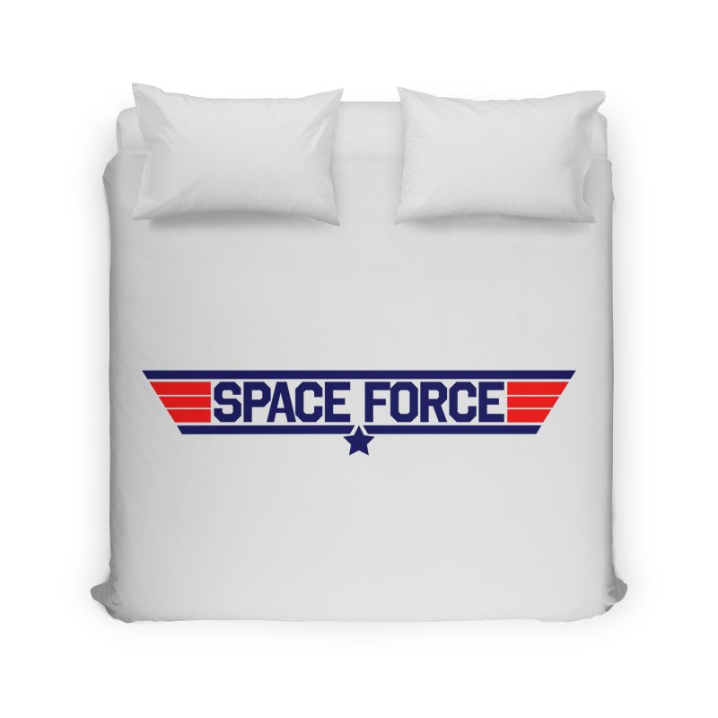 Space Force Home Duvet by Wood-Man's Artist Shop