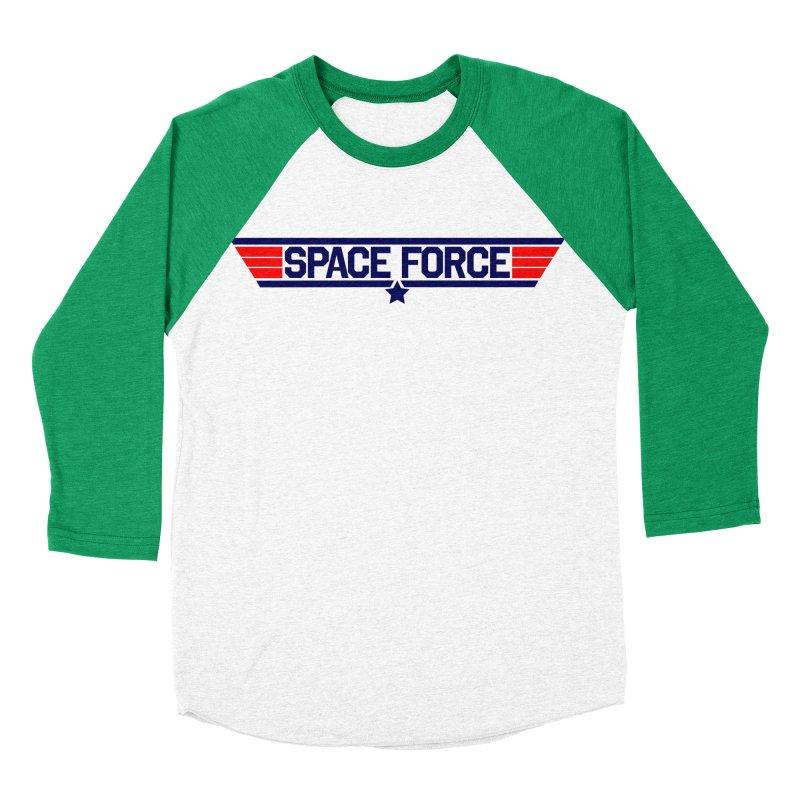 Space Force Women's Baseball Triblend T-Shirt by Wood-Man's Artist Shop