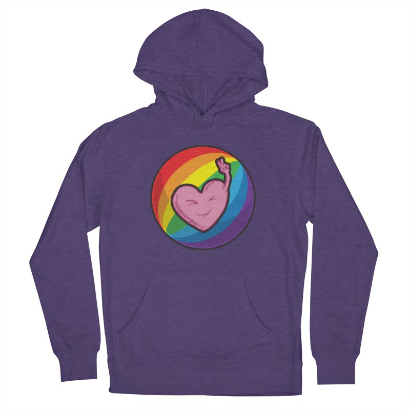 Peace & Love Women's Pullover Hoody by Wood-Man's Artist Shop