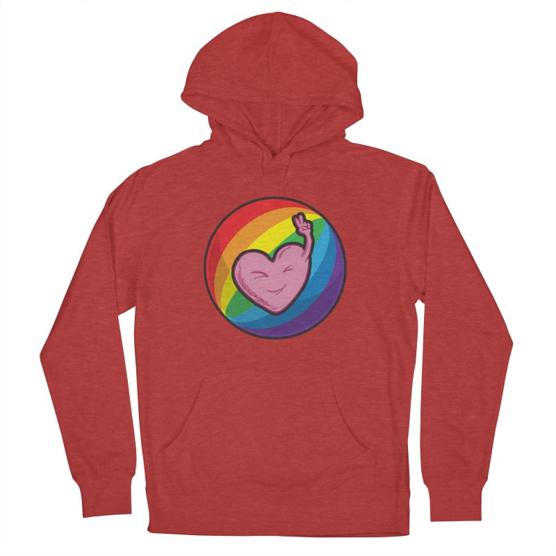 Peace & Love Men's Pullover Hoody by Wood-Man's Artist Shop