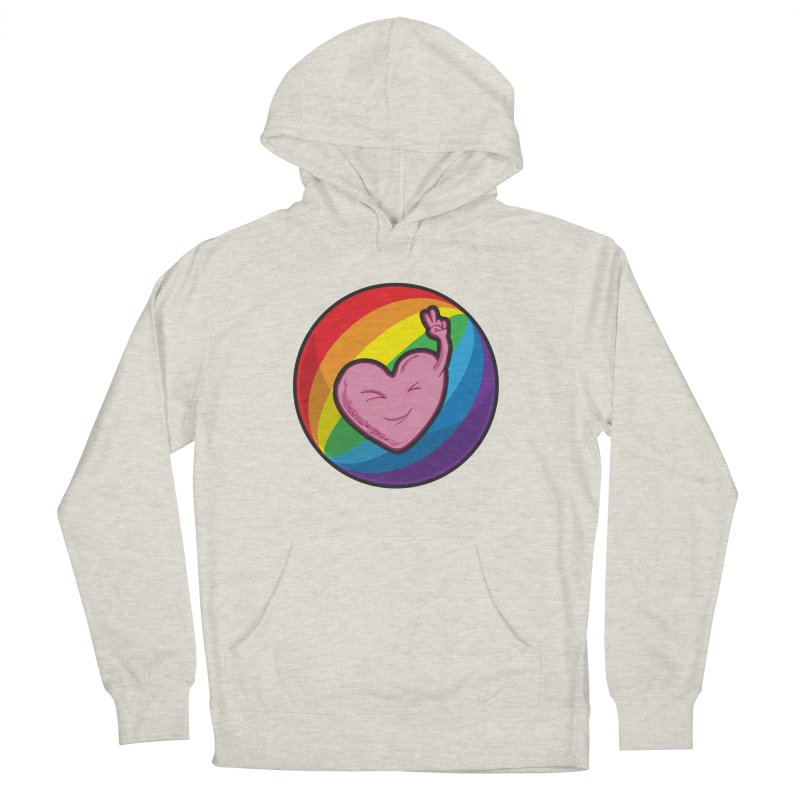 Peace & Love Men's Pullover Hoody by Wood-Man's Artist Shop