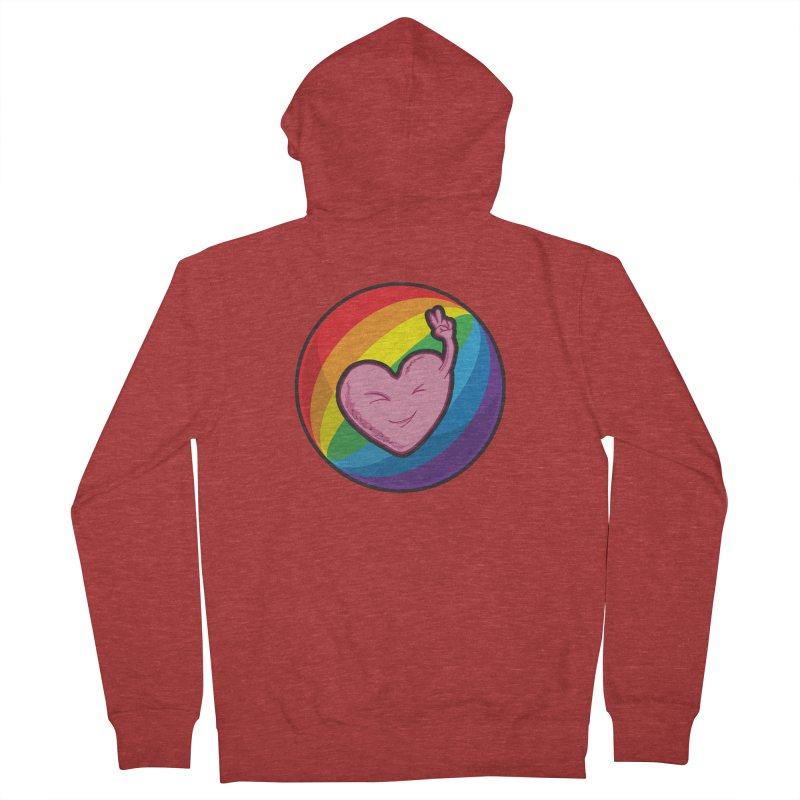 Peace & Love Men's Zip-Up Hoody by Wood-Man's Artist Shop