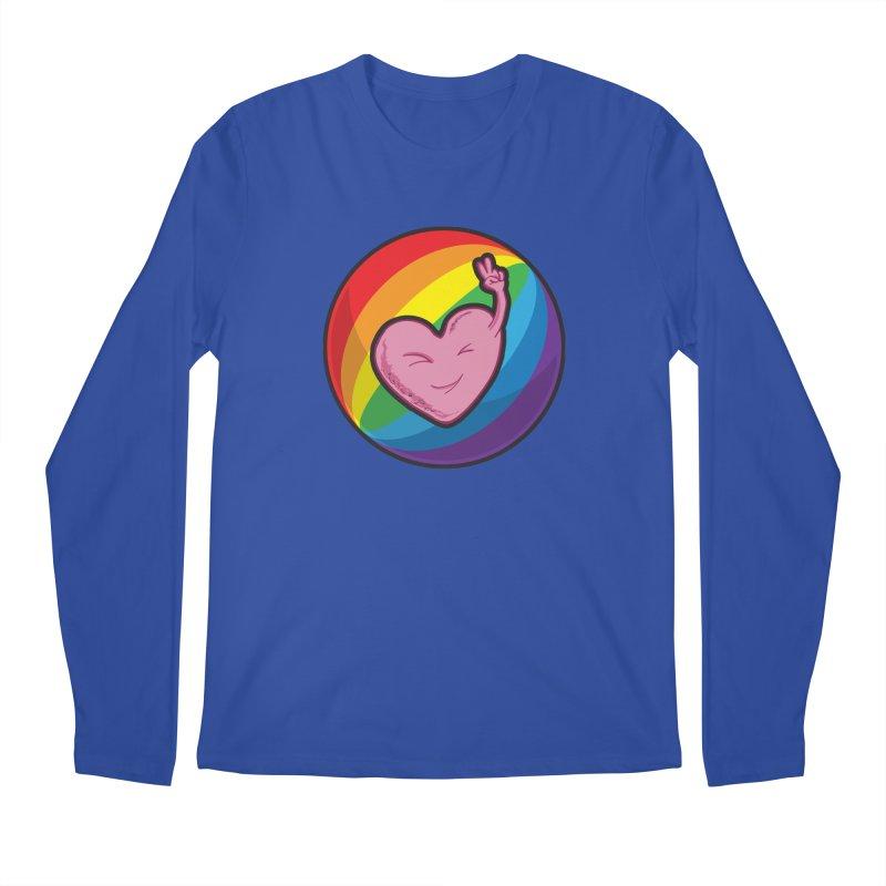 Peace & Love Men's Longsleeve T-Shirt by Wood-Man's Artist Shop