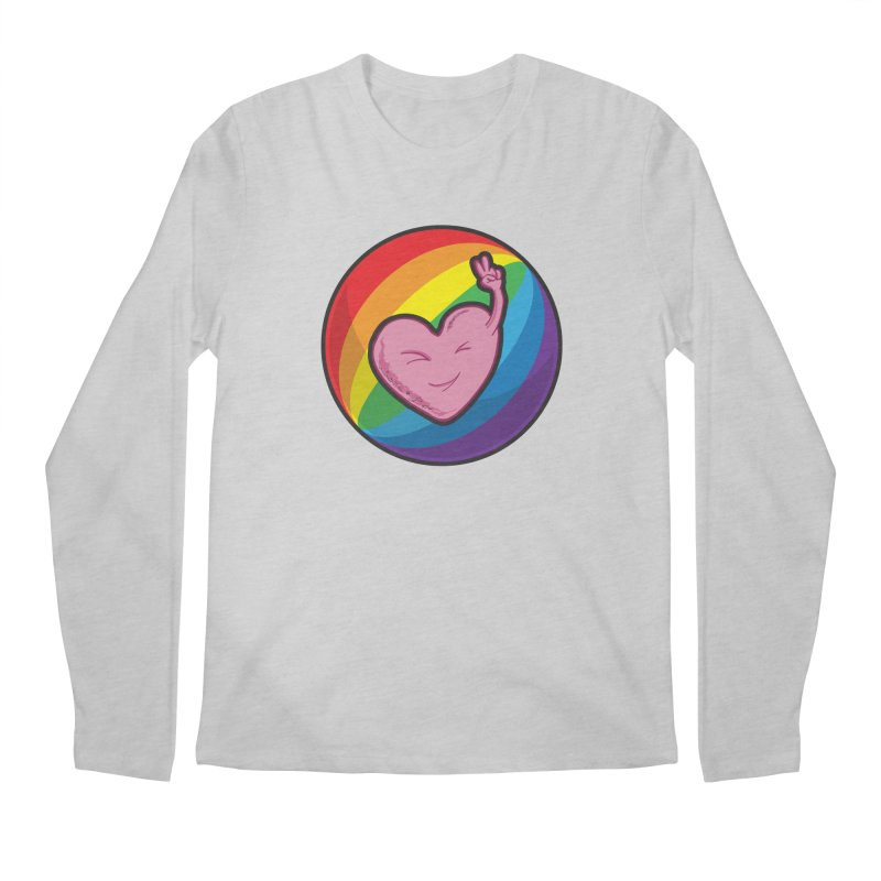 Peace & Love Men's Longsleeve T-Shirt by Wood-Man's Artist Shop