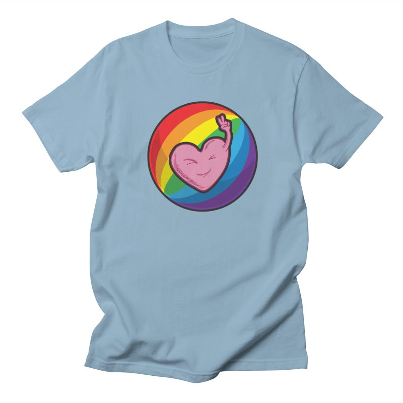 Peace & Love Men's T-Shirt by Wood-Man's Artist Shop