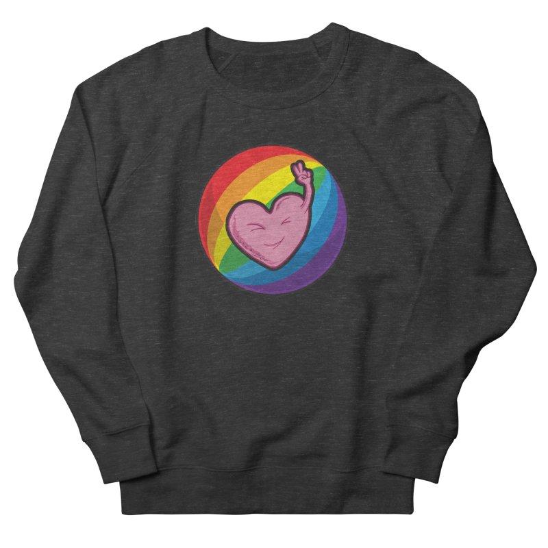 Peace & Love Men's Sweatshirt by Wood-Man's Artist Shop