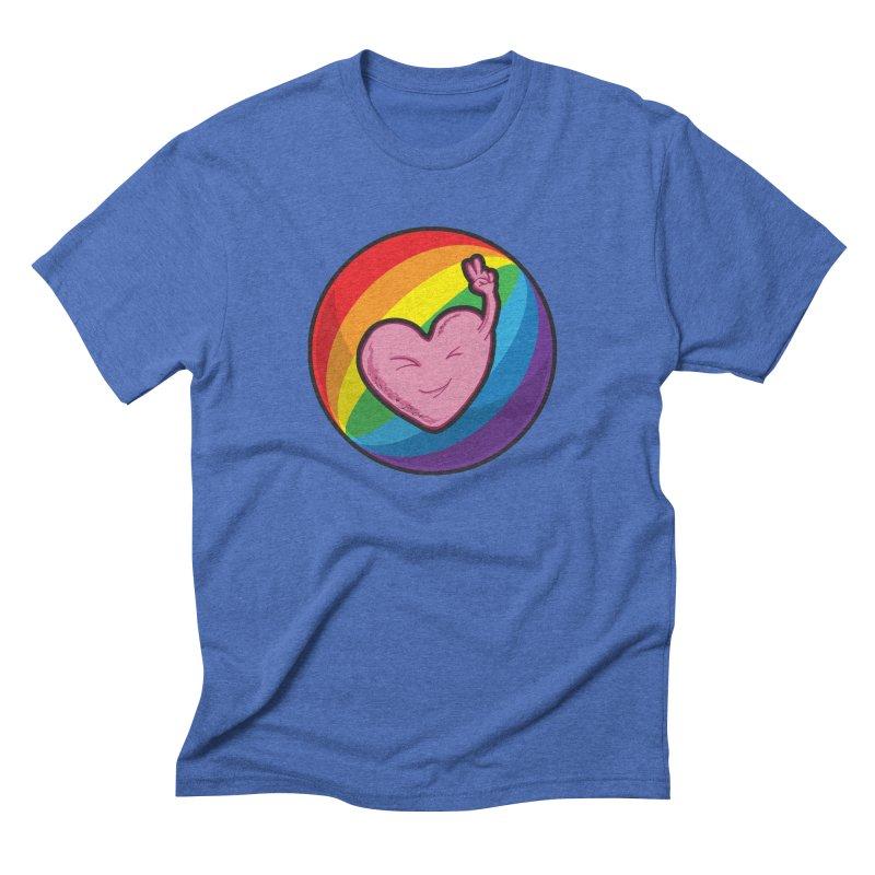 Peace & Love Men's Triblend T-Shirt by Wood-Man's Artist Shop