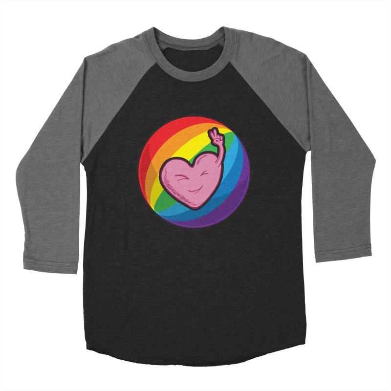 Peace & Love Women's Baseball Triblend T-Shirt by Wood-Man's Artist Shop