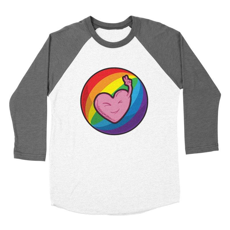 Peace & Love Men's Baseball Triblend T-Shirt by Wood-Man's Artist Shop