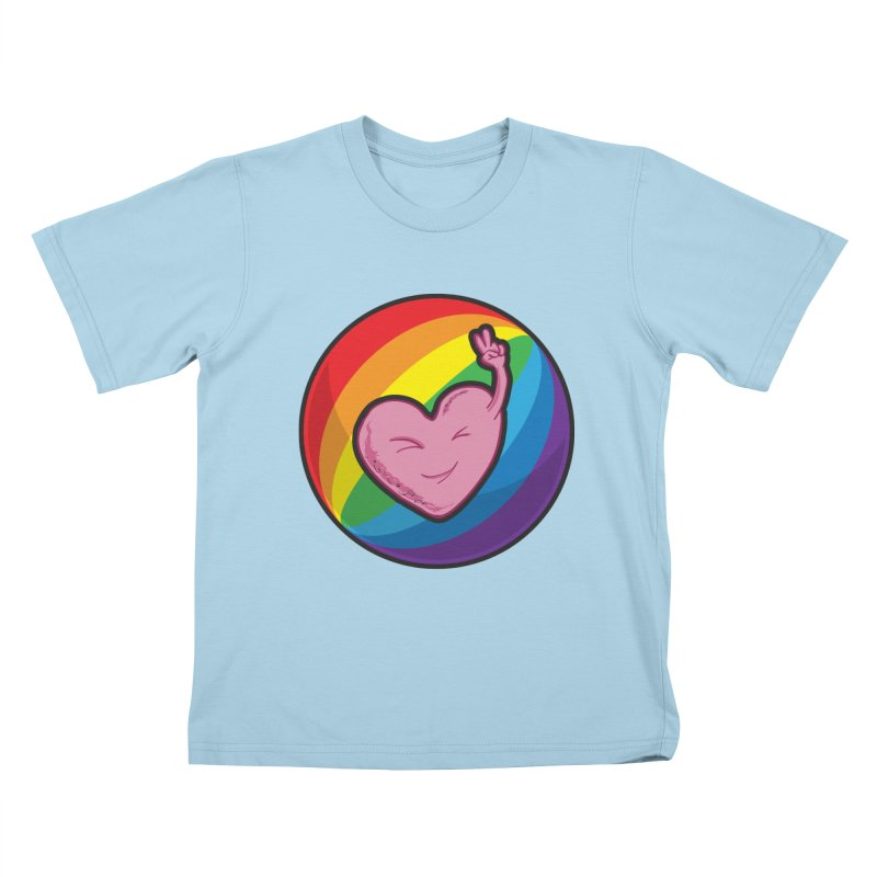 Peace & Love Kids T-shirt by Wood-Man's Artist Shop