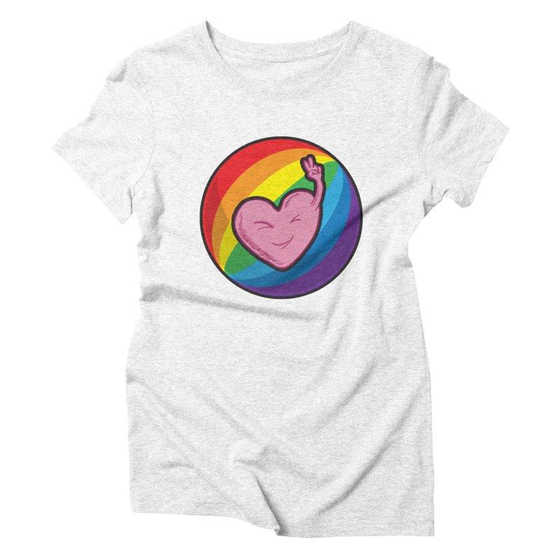 Peace & Love Women's Triblend T-shirt by Wood-Man's Artist Shop