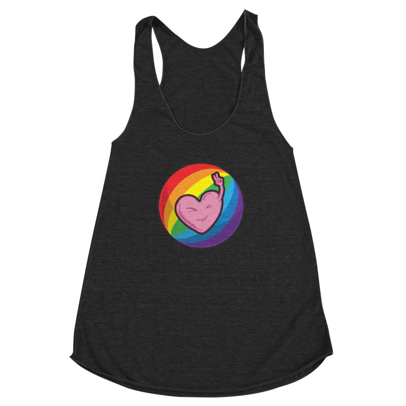 Peace & Love Women's Racerback Triblend Tank by Wood-Man's Artist Shop