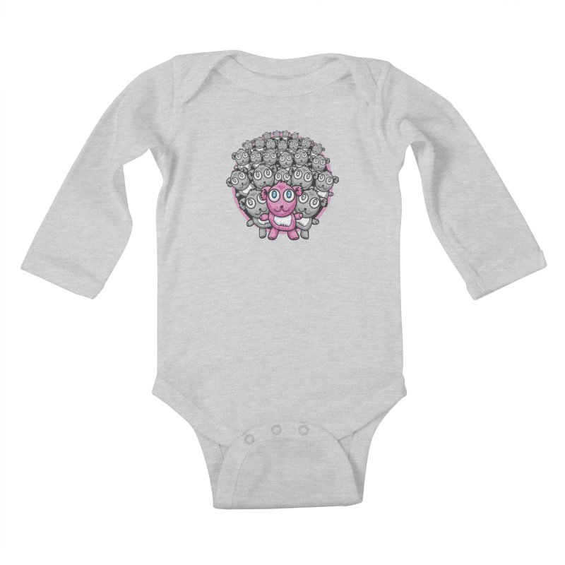 Supercute Kids Baby Longsleeve Bodysuit by Wood-Man's Artist Shop