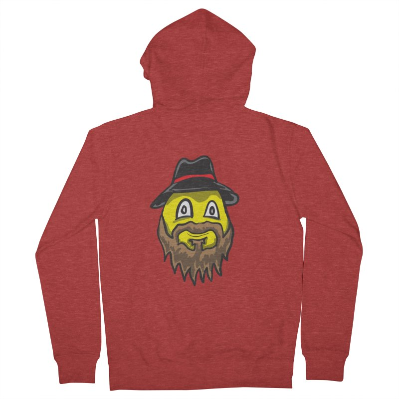Beardo the Magnificent Men's Zip-Up Hoody by Wood-Man's Artist Shop