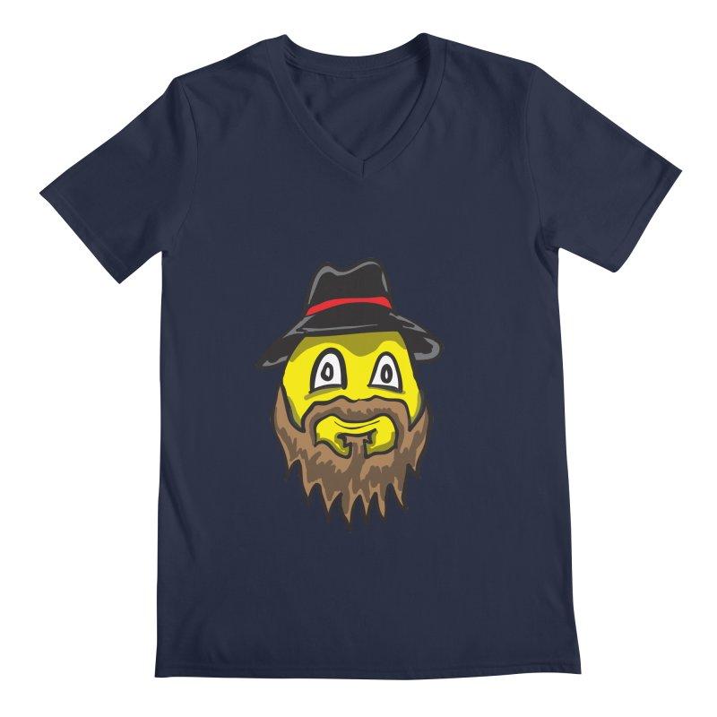 Beardo the Magnificent Men's V-Neck by Wood-Man's Artist Shop
