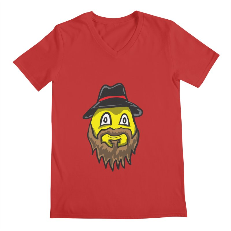 Beardo the Magnificent Men's V-Neck by Wood-Man's Artist Shop