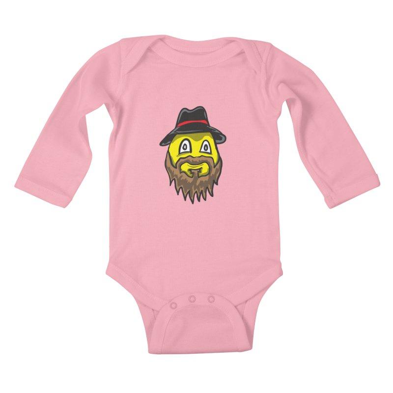 Beardo the Magnificent Kids Baby Longsleeve Bodysuit by Wood-Man's Artist Shop