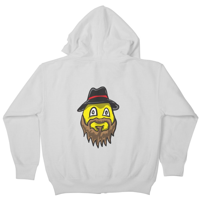 Beardo the Magnificent Kids Zip-Up Hoody by Wood-Man's Artist Shop
