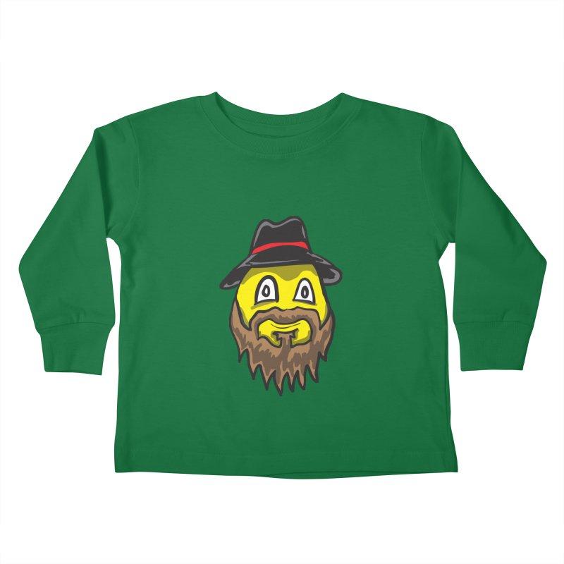 Beardo the Magnificent Kids Toddler Longsleeve T-Shirt by Wood-Man's Artist Shop