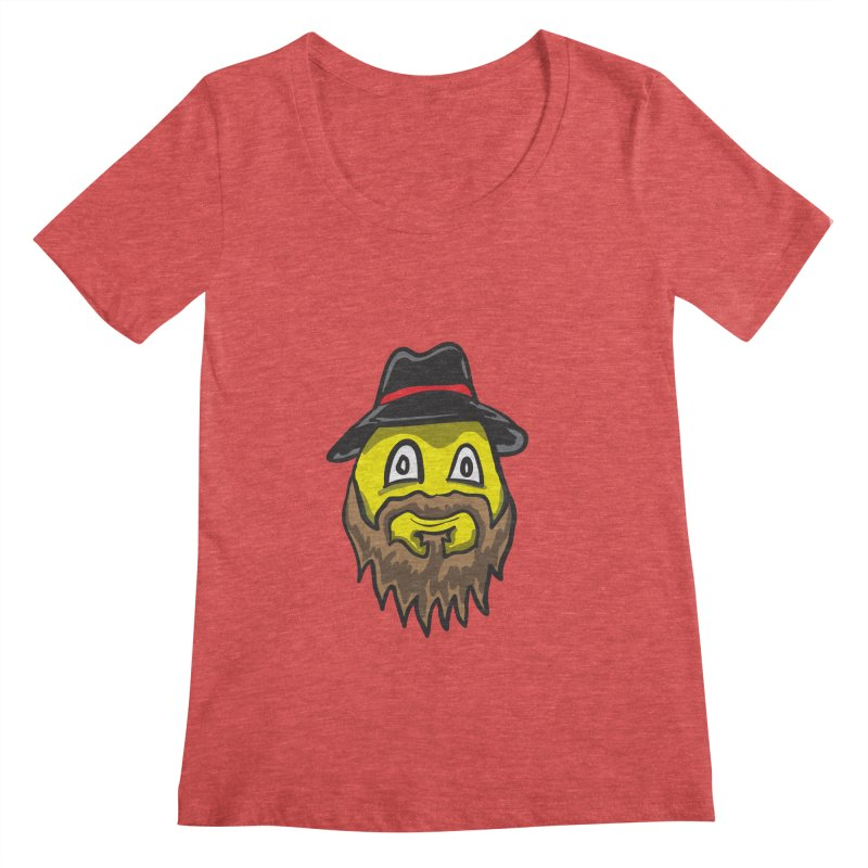 Beardo the Magnificent Women's Scoopneck by Wood-Man's Artist Shop