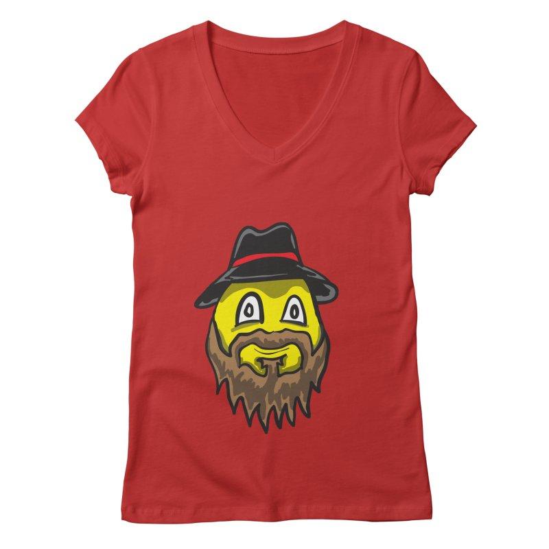 Beardo the Magnificent Women's V-Neck by Wood-Man's Artist Shop