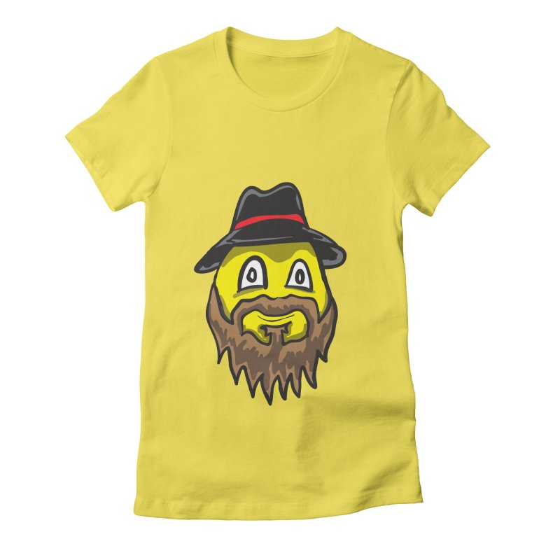 Beardo the Magnificent Women's Fitted T-Shirt by Wood-Man's Artist Shop