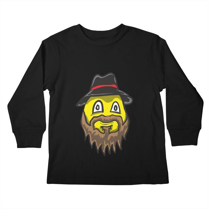 Beardo the Magnificent Kids Longsleeve T-Shirt by Wood-Man's Artist Shop