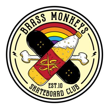 Brass Monkeys Skateboard Co. Logo
