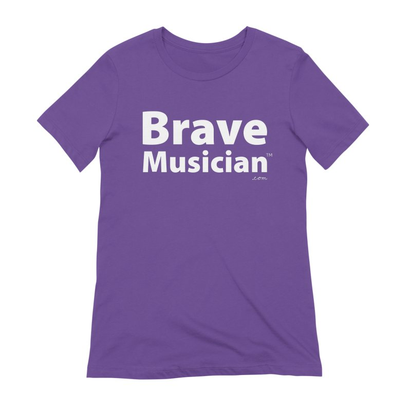 Brave Musician Merch Women's T-Shirt by Brave Musician Shop