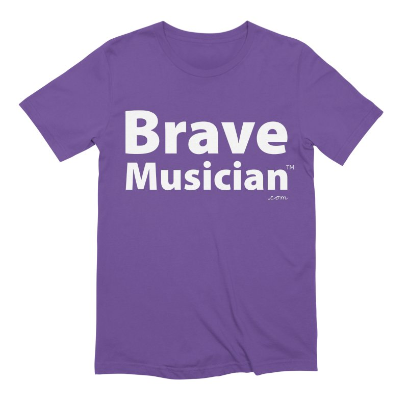 Brave Musician Merch Men's Extra Soft T-Shirt by Brave Musician Shop