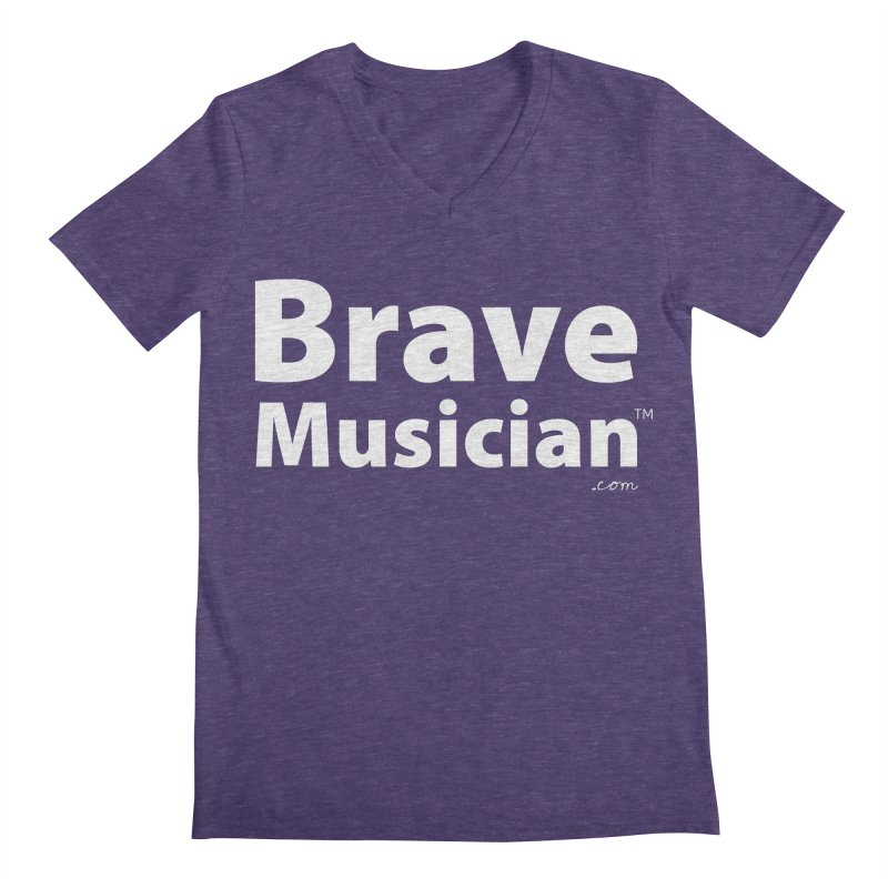 Brave Musician Merch Men's V-Neck by Brave Musician Shop