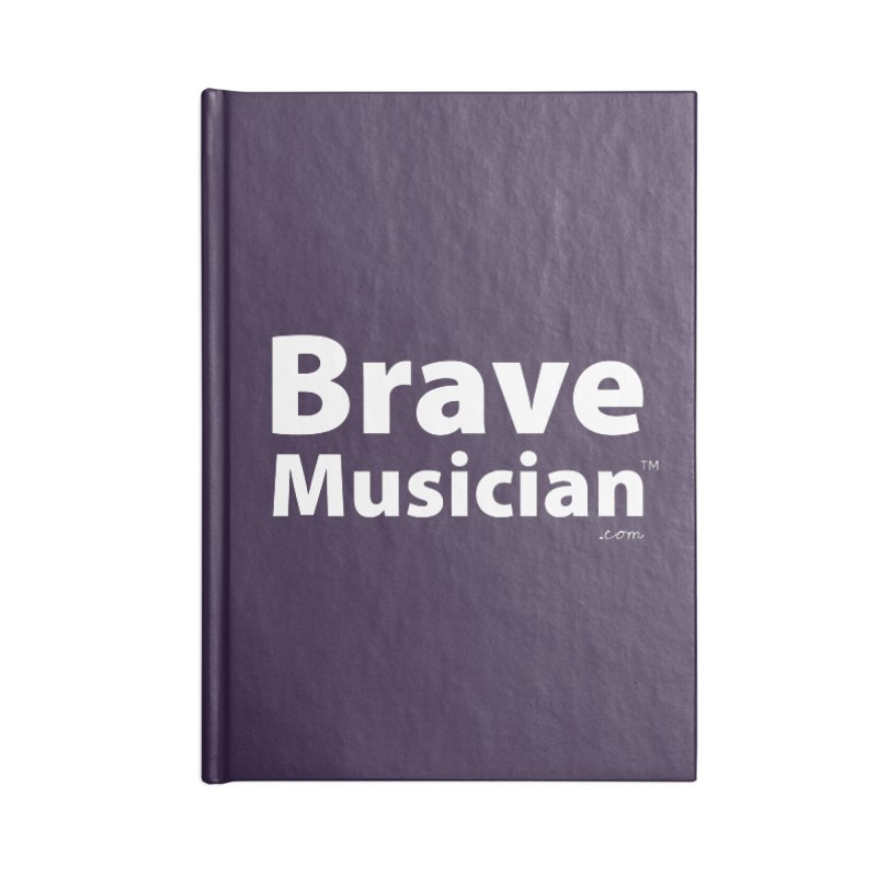 Brave Musician Merch Accessories Lined Journal Notebook by Brave Musician Shop