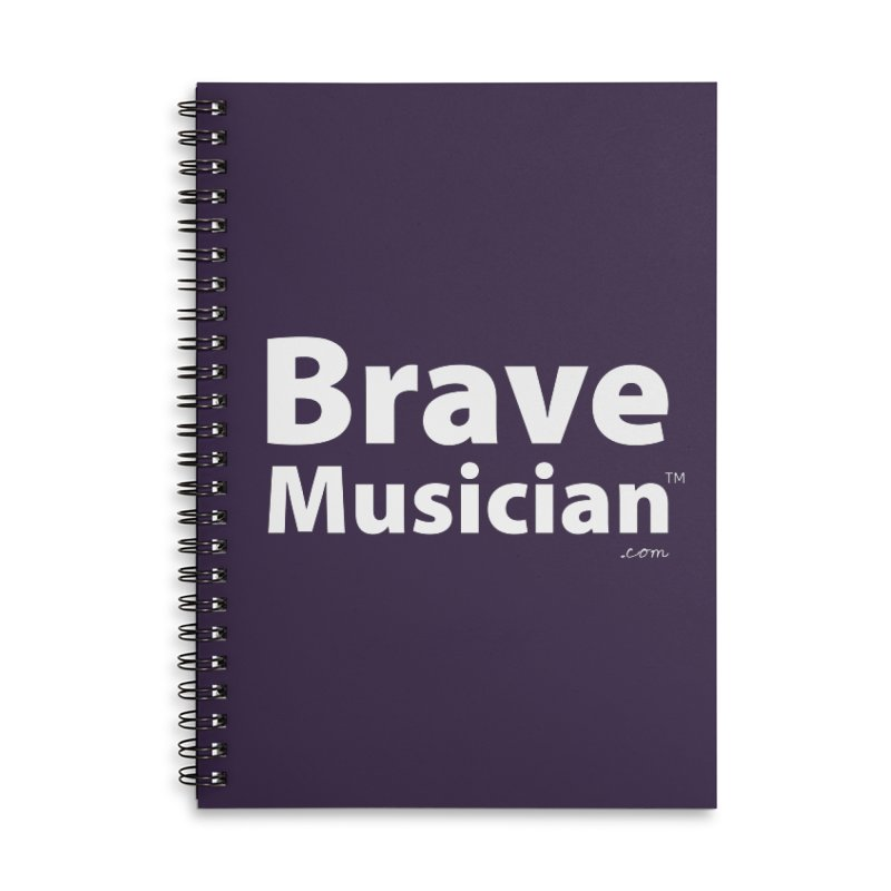 Brave Musician Merch Accessories Lined Spiral Notebook by Brave Musician Shop
