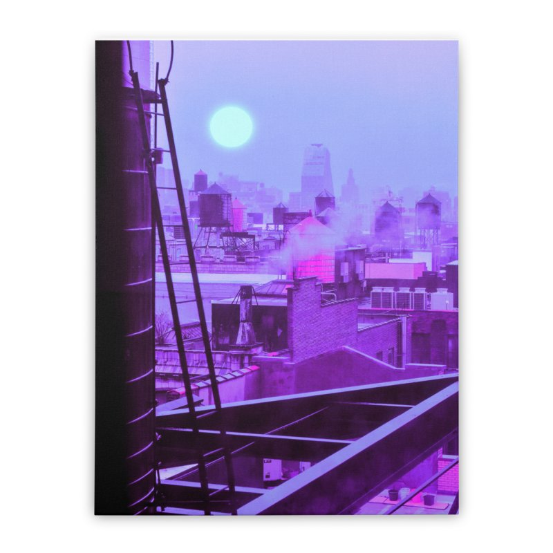Neon Sun Home Stretched Canvas by Braxxaz