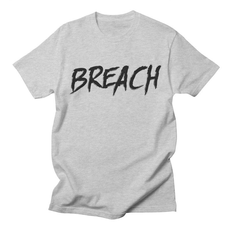 Breach (Black) Men's Regular T-Shirt by breach's Artist Shop