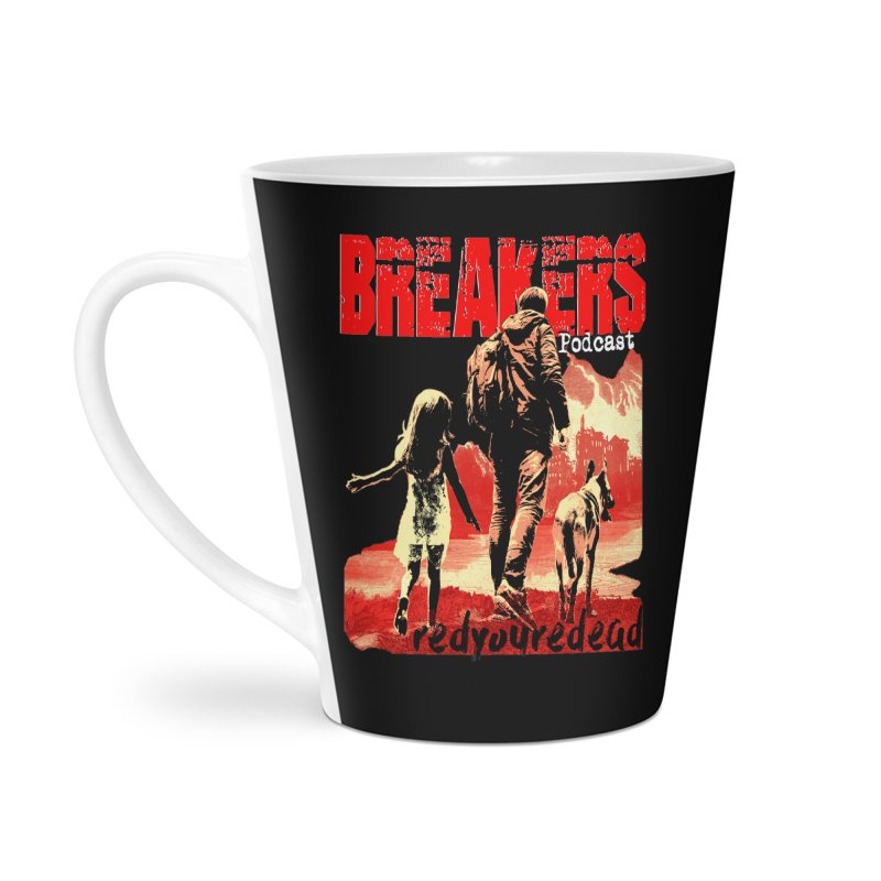 Breakers red design tshirt Accessories Latte Mug by breakerspodcast Shop