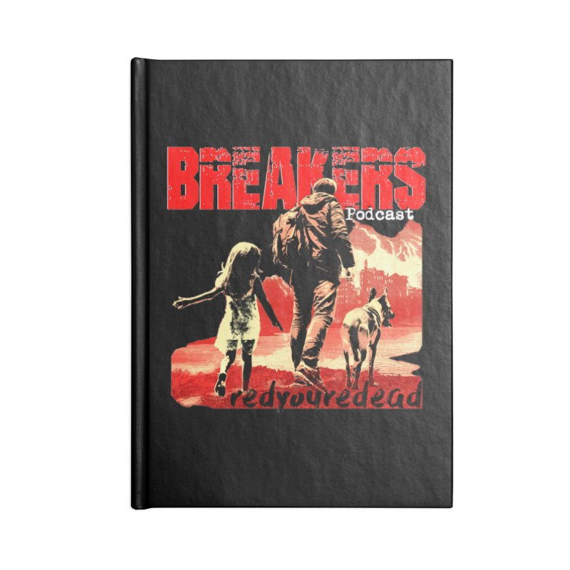 Breakers red design tshirt Accessories Blank Journal Notebook by breakerspodcast Shop