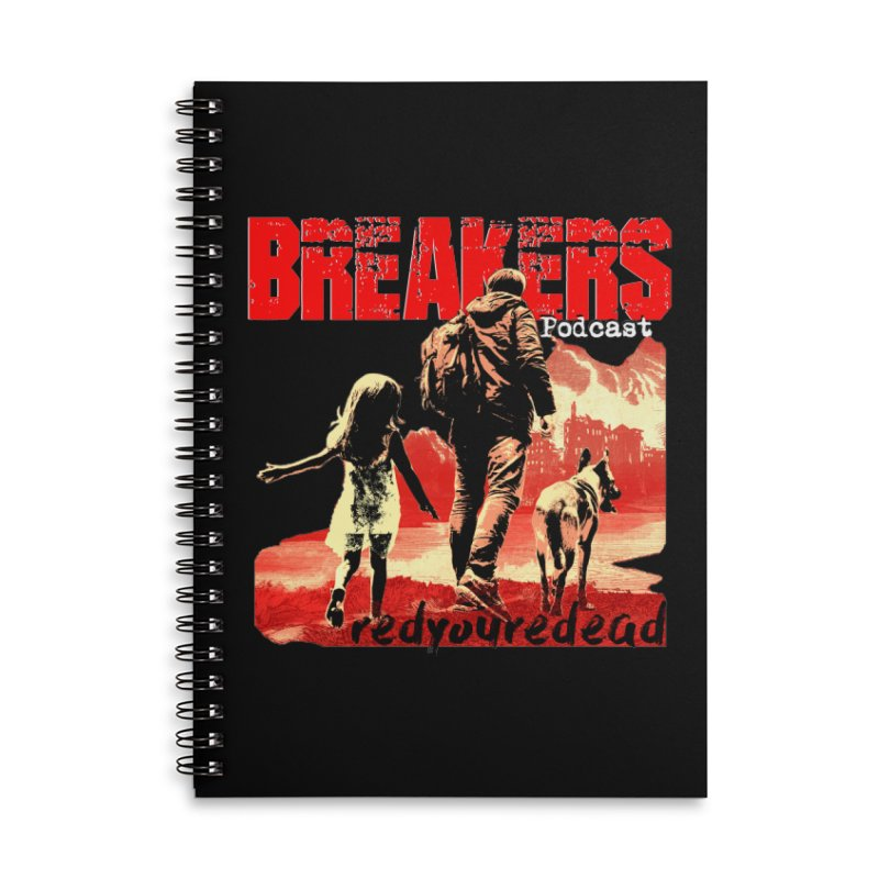 Breakers red design tshirt Accessories Lined Spiral Notebook by breakerspodcast Shop