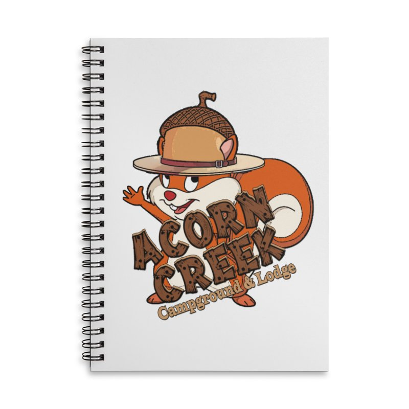 Squirrely Pete Accessories Lined Spiral Notebook by breakerspodcast Shop