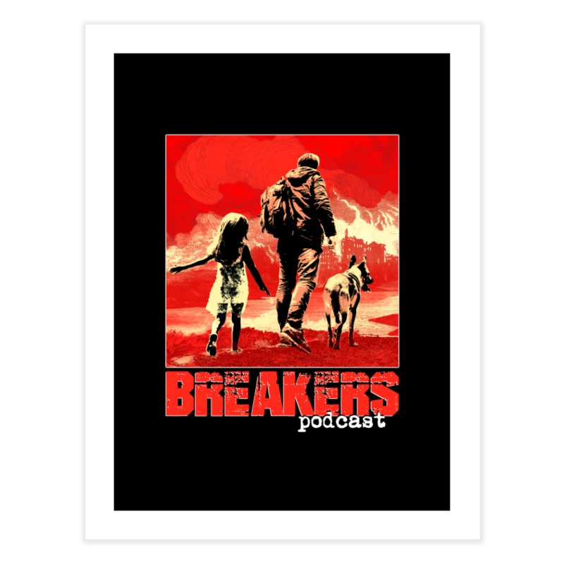 Phase I Poster (Red) Home Fine Art Print by breakerspodcast Shop