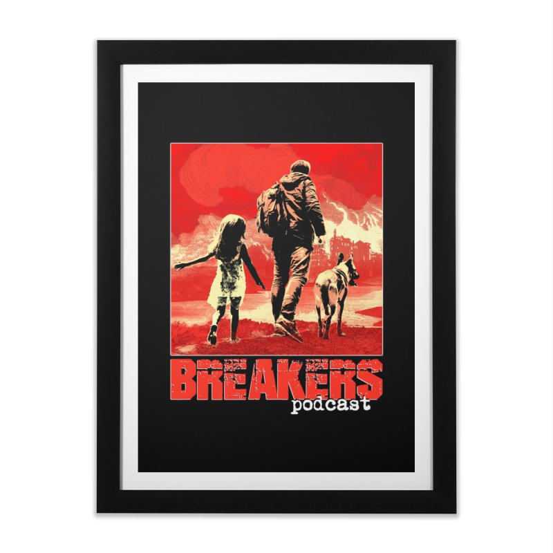 Phase I Poster (Red) Home Framed Fine Art Print by breakerspodcast Shop