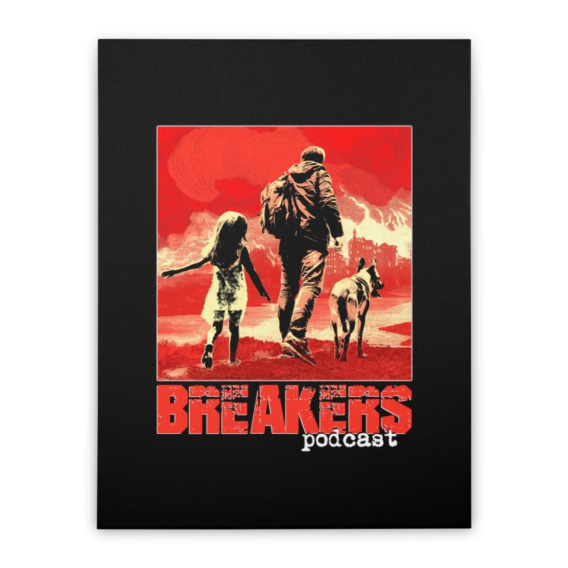 Phase I Poster (Red) Home Stretched Canvas by breakerspodcast Shop