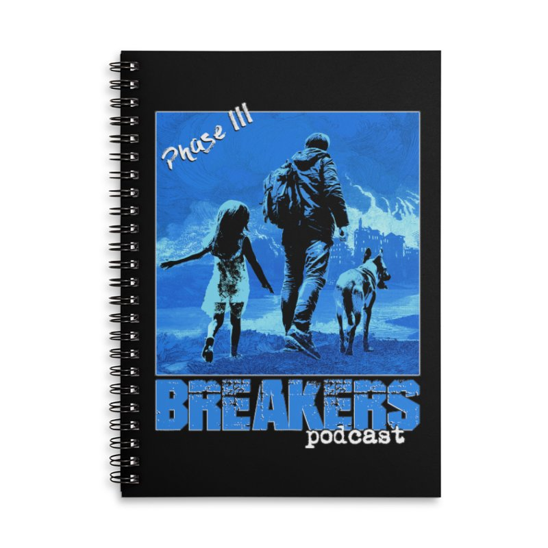 Phase III BLUE Tshirt Accessories Lined Spiral Notebook by breakerspodcast Shop
